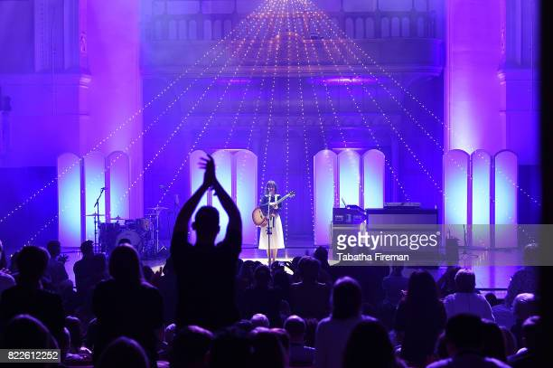 Katie Melua performs an intimate gig in Chelsea for the next instalment in the Prime Live Events series from Amazon Tickets at Cadogan Hall on July...