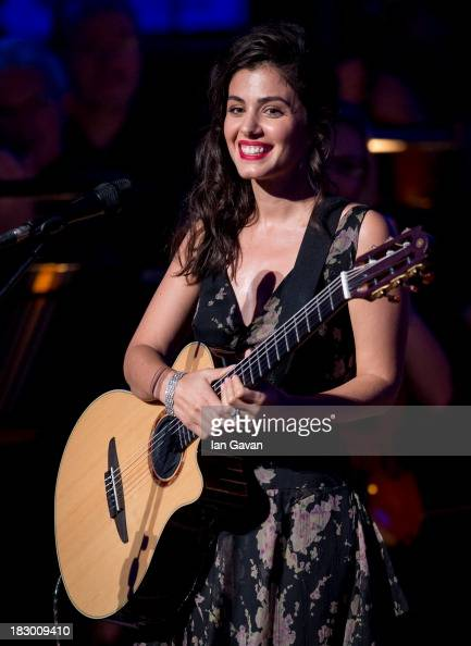 Katie Melua performs at 'A Life In Song Lyrics By Don Black' at the Royal Festival Hall on October 3 2013 in London England