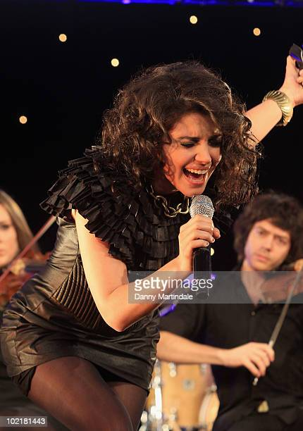 Katie Melua performs at the Arqiva Commercial Radio Awards on June 17 2010 in London England