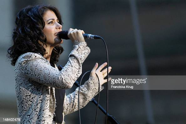 Katie Melua performs during the Thurn Taxis Castle Festival on July 15 2012 in Regensburg Germany