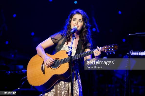 Katie Melua performs during the World Hunger Day in Support Of The Hunger Project concert with Dionne Warwick and friends at The Royal Albert Hall on...