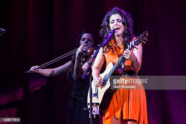 Katie Melua performs on stage at Hammersmith Apollo on October 10 2012 in London United Kingdom