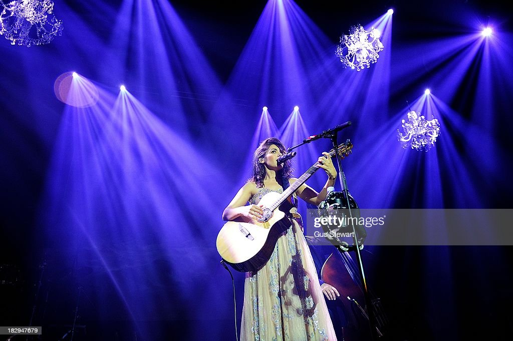 <a gi-track='captionPersonalityLinkClicked' href=/galleries/search?phrase=Katie+Melua&family=editorial&specificpeople=239516 ng-click='$event.stopPropagation()'>Katie Melua</a> performs on stage at The Roundhouse on October 2, 2013 in London, England.