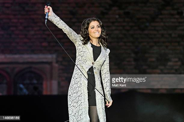 Katie Melua performs on stage during the Hampton Court Palace Festival at Hampton Court Palace on June 22 2012 in London United Kingdom