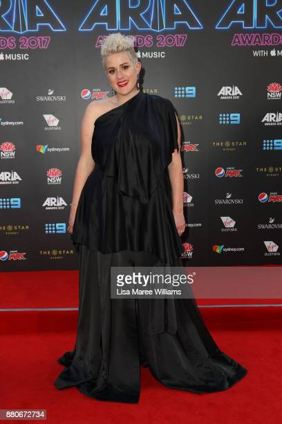 Katie Noonan arrives for the 31st Annual ARIA Awards 2017 at The Star on November 28 2017 in Sydney Australia