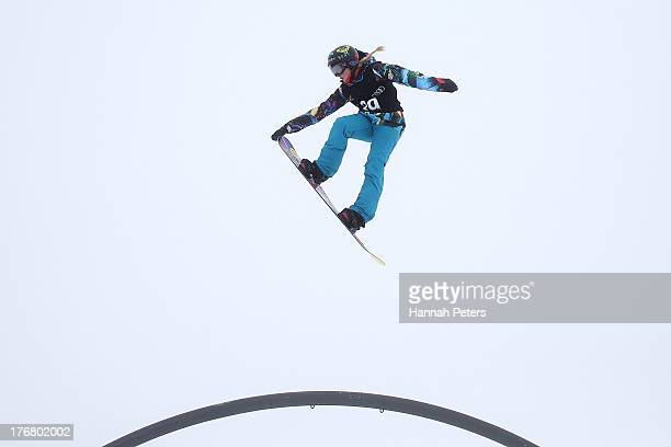 Katie Ormerod of Great Britain competes in qualifying for FIS Snowboard Slopestyle World Cup Finals during day five of the Winter Games NZ at...