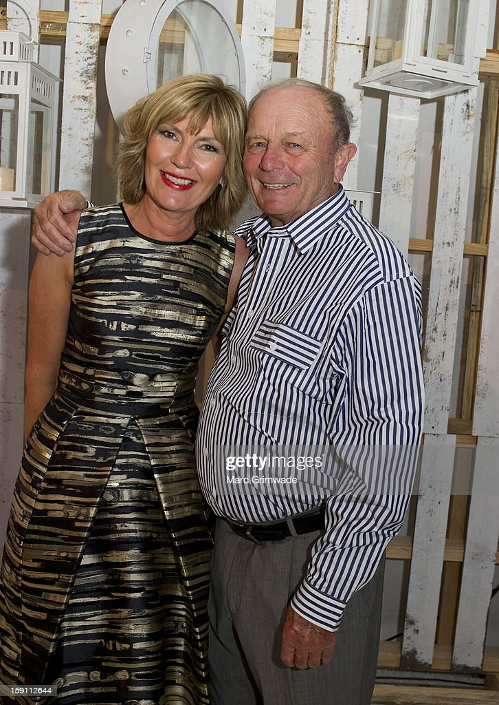 Katie Page and Gerry Harvey during the Magic Millions Opening Night cocktail party at Surfers Paradise on January 8, 2013 in Surfers Paradise, Australia.