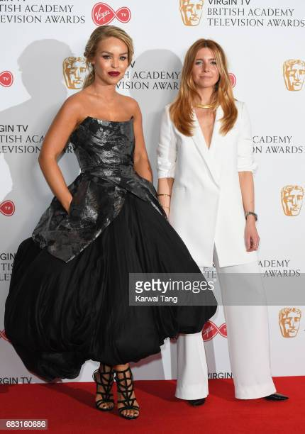 Katie Piper and Stacey Dooley pose in the Winner's room at the Virgin TV BAFTA Television Awards at The Royal Festival Hall on May 14 2017 in London...