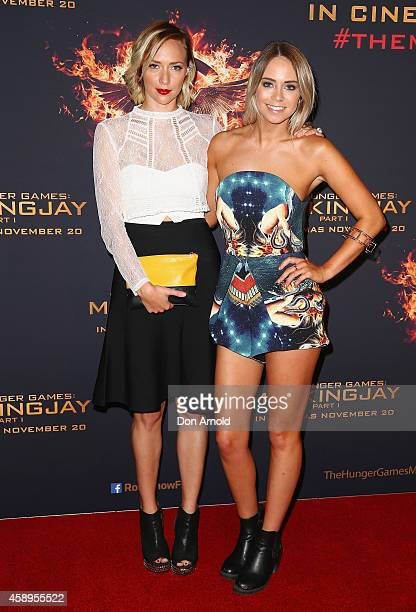 Katie Piper and Tully Smyth arrive at The Hunger Games Mockingjay Part 1 Sydney Premiere at Event Cinemas George Street on November 14 2014 in Sydney...