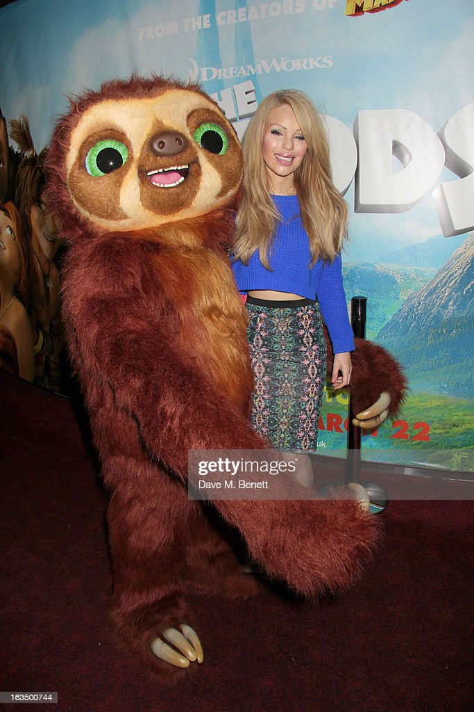 Katie Piper attends 'The Croods' Premiere at Empire Leicester Square on March 10, 2013 in London, England.