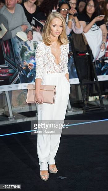 Katie Piper attends the European premiere of 'The Avengers Age Of Ultron' at Westfield London on April 21 2015 in London England