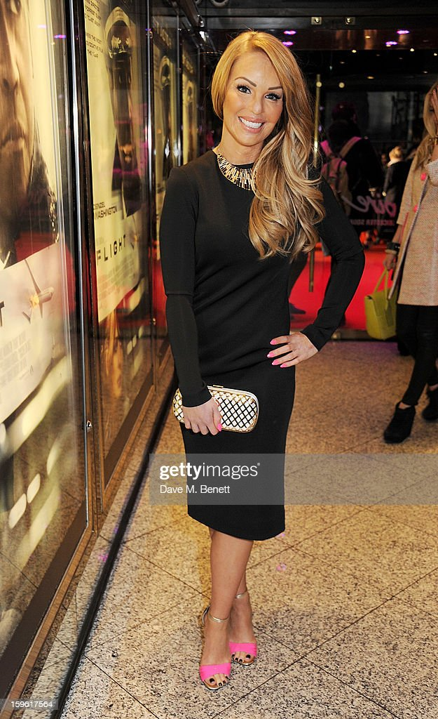 Katie Piper attends the UK Premiere of 'Flight' at the the Empire Leicester Square on January 17, 2013 in London, England.