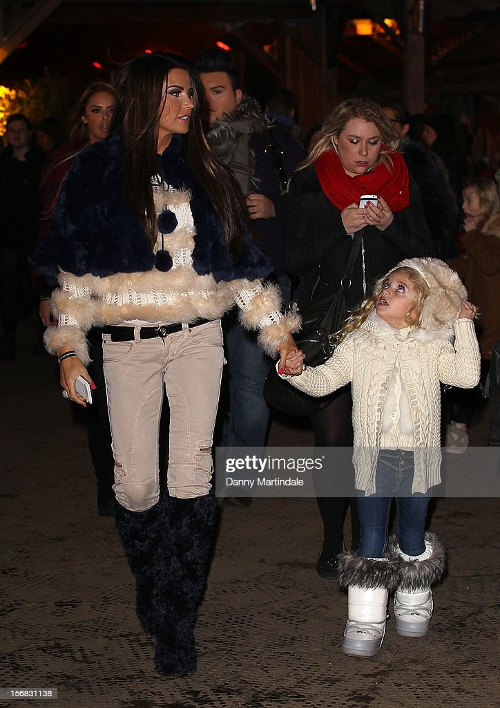 <a gi-track='captionPersonalityLinkClicked' href=/galleries/search?phrase=Katie+Price&family=editorial&specificpeople=260303 ng-click='$event.stopPropagation()'>Katie Price</a> and daughter Princess attend the Winter Wonderland launch party at Hyde Park on November 22, 2012 in London, England.