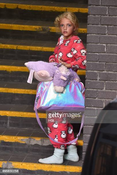 Katie Price and daughter Princess seen arriving a the ITV Studios on June 14 2017 in London England