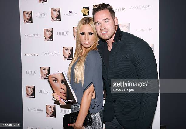 Katie Price and husband Kieran Hayler attend the book launch party for 'Simply Glamorous' By Gary Cockerill at Alon Zakaim on September 16 2015 in...
