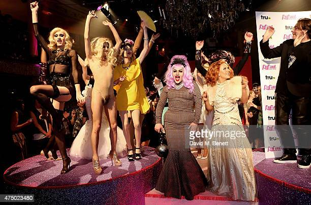 Katie Price and Jonathan Ross with contestants and guests at the final of RuPaul's Drag Race 'UK Ambassador' hosted by truTV and RuPaul at Cafe De...