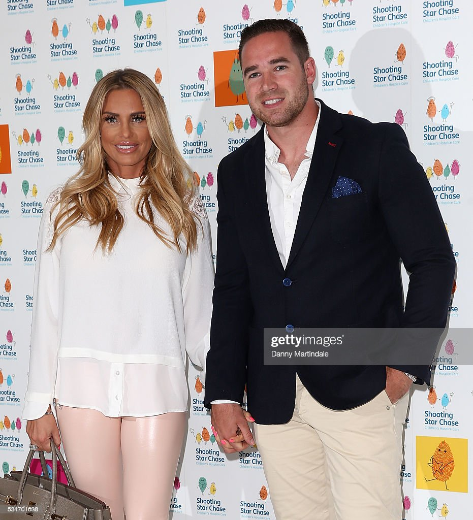 <a gi-track='captionPersonalityLinkClicked' href=/galleries/search?phrase=Katie+Price&family=editorial&specificpeople=260303 ng-click='$event.stopPropagation()'>Katie Price</a> and <a gi-track='captionPersonalityLinkClicked' href=/galleries/search?phrase=Kieran+Hayler&family=editorial&specificpeople=10801396 ng-click='$event.stopPropagation()'>Kieran Hayler</a> arrives for Star Chase Children's Hospice Event at The Dorchester on May 27, 2016 in London, England.