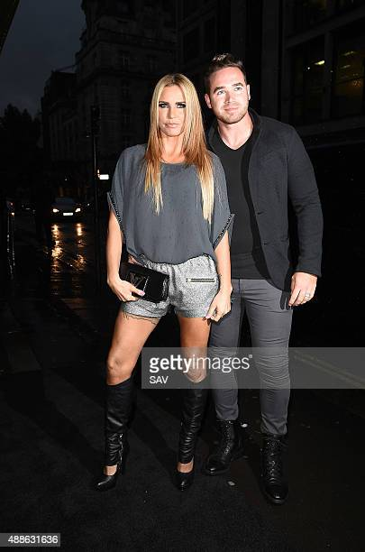 Katie Price and Kieran Hayler attend a book launch on September 16 2015 in London England