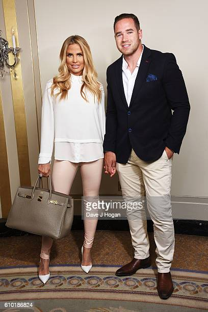 Katie Price and Kieran Hayler attend afternoon tea for families supported by Shooting Star Chase Children's Hospice at The Dorchester on May 27 2016...