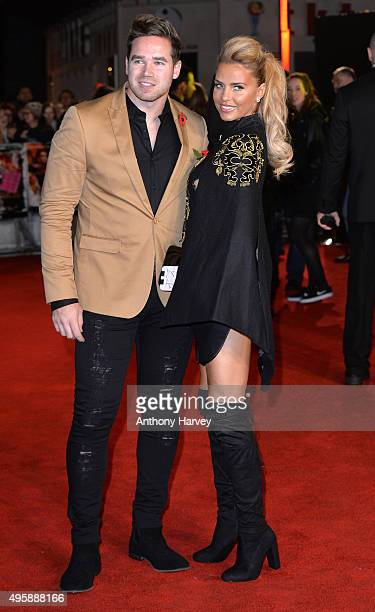 Katie Price and Kieran Hayler attend The Hunger Games Mockingjay Part 2 UK Premiere at Odeon Leicester Square on November 5 2015 in London England