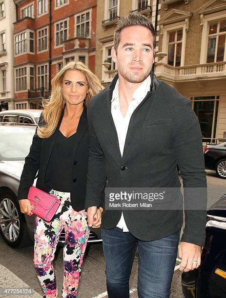 Katie Price and Kieran Hayler attending the Richard Desmond book launch party at the Claridges hotel ballroom on June 15 2015 in London England