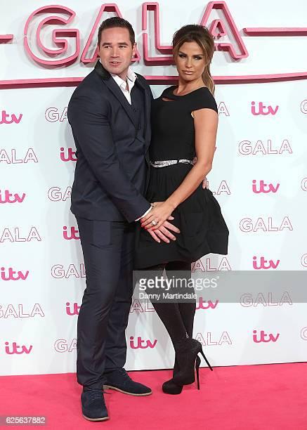 Katie Price and Kieran Hayler attends the ITV Gala at London Palladium on November 24 2016 in London England