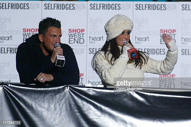 Katie Price and Peter Andre during Oxford Street Christmas Lights 2006 Grand Switch On at Oxford Street in London Great Britain