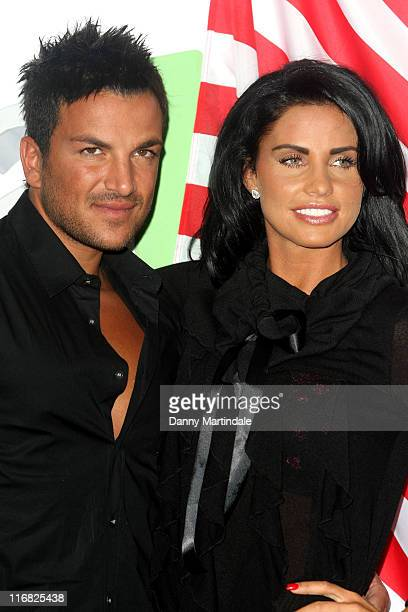 Katie Price and Peter Andre launch the latest chapter of their reality series at The Soho Hotel on April 14 2009 in London England