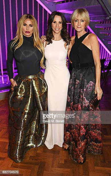 Katie Price Andrea McLean and Jane Moore attend the National Television Awards cocktail reception at The O2 Arena on January 25 2017 in London England