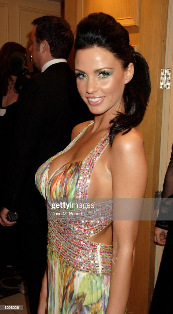 Katie Price arrives at the Galaxy Book Awards, at the Grosvenor House Hotel on April 9, 2008 in London, England.