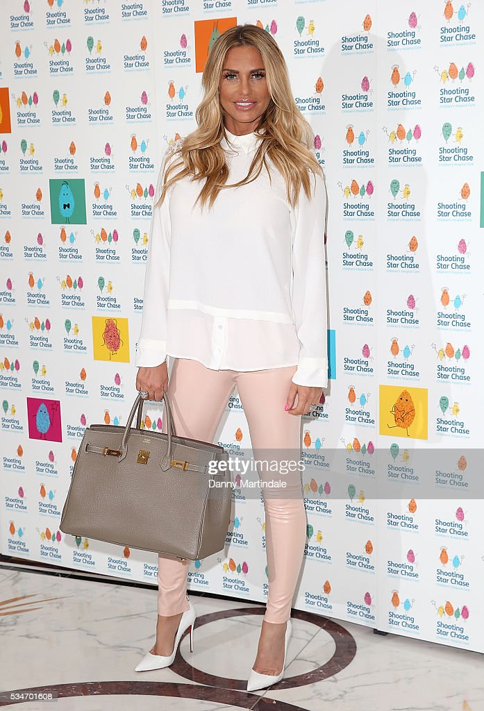 <a gi-track='captionPersonalityLinkClicked' href=/galleries/search?phrase=Katie+Price&family=editorial&specificpeople=260303 ng-click='$event.stopPropagation()'>Katie Price</a> arrives for Star Chase Children's Hospice Event at The Dorchester on May 27, 2016 in London, England.