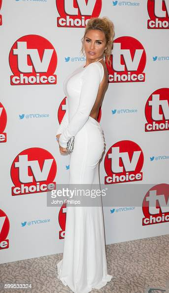Katie Price arrives for the TV Choice Awards at The Dorchester Hotel on September 5 2016 in London England