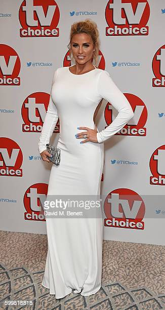 Katie Price arrives for the TVChoice Awards at The Dorchester on September 5 2016 in London England