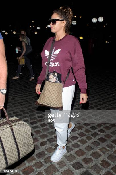 Katie Price arriving at a central London hotel on July 1 2017 in London England