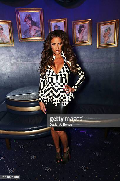 Katie Price at the final of RuPaul's Drag Race 'UK Ambassador' hosted by truTV and RuPaul at Cafe De Paris ahead of the launch of RuPaul's Drag Race...