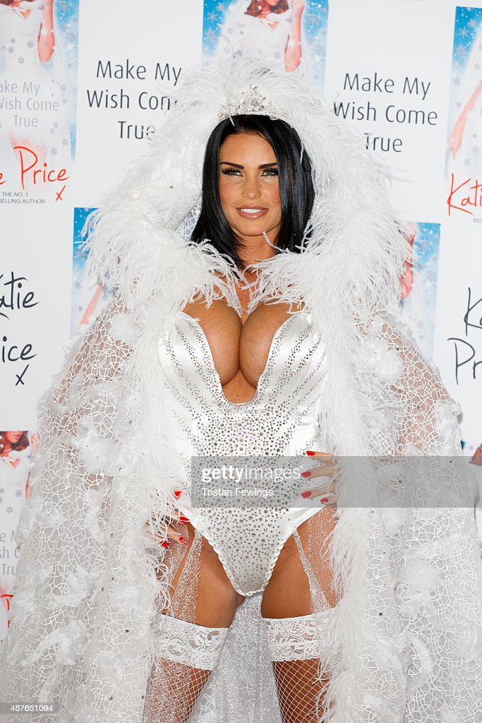 Katie Price attends a photocall to launch her new novel 'Make My Wish Come True' at The Worx on October 22 2014 in London England