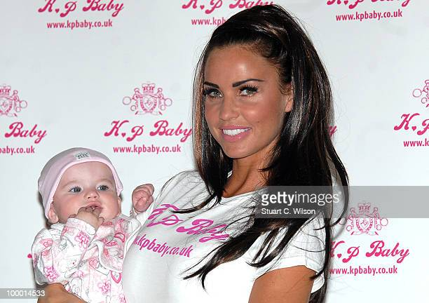 Katie Price attends photocall to launch her new range of Baby Clothes KP BABY on May 20 2010 in London England