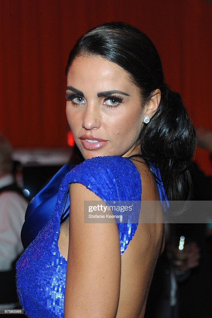 Katie Price attends the 18th Annual Elton John AIDS Foundation Oscar Party at Pacific Design Center on March 7, 2010 in West Hollywood, California.