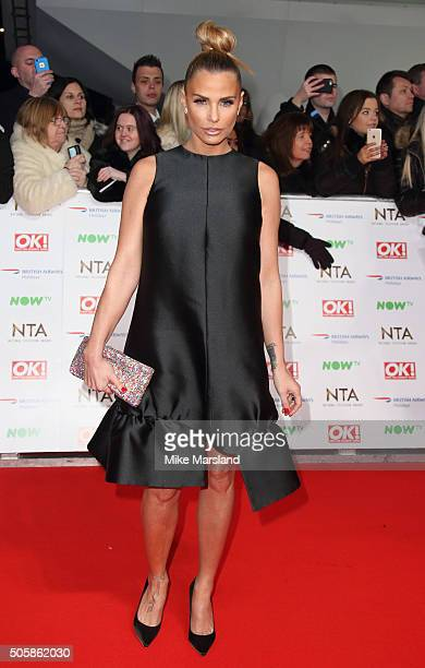 Katie Price attends the 21st National Television Awards at The O2 Arena on January 20 2016 in London England