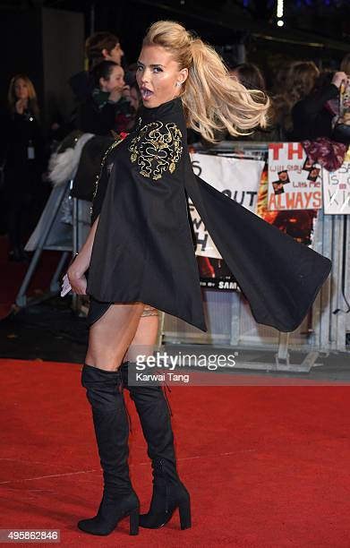 Katie Price attends The Hunger Games Mockingjay Part 2 UK Premiere at Odeon Leicester Square on November 5 2015 in London England