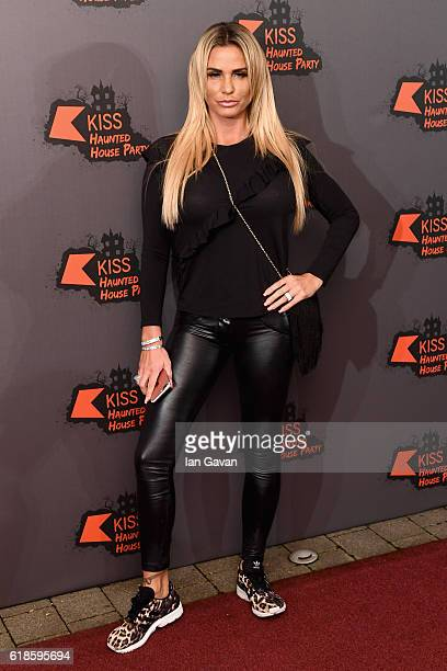 Katie Price attends the Kiss FM Haunted House Party at SSE Arena on October 27 2016 in London England
