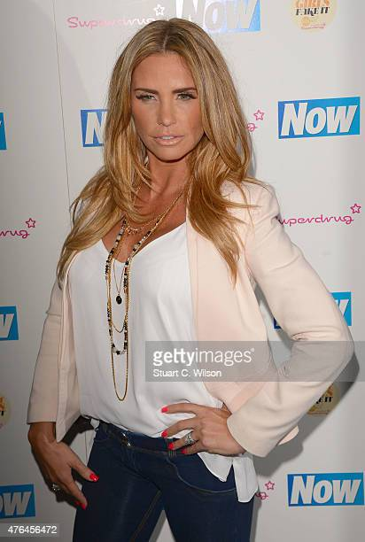 Katie Price attends the Now Smart Girls Fake It Campaign launch at Kanaloa on June 9 2015 in London England