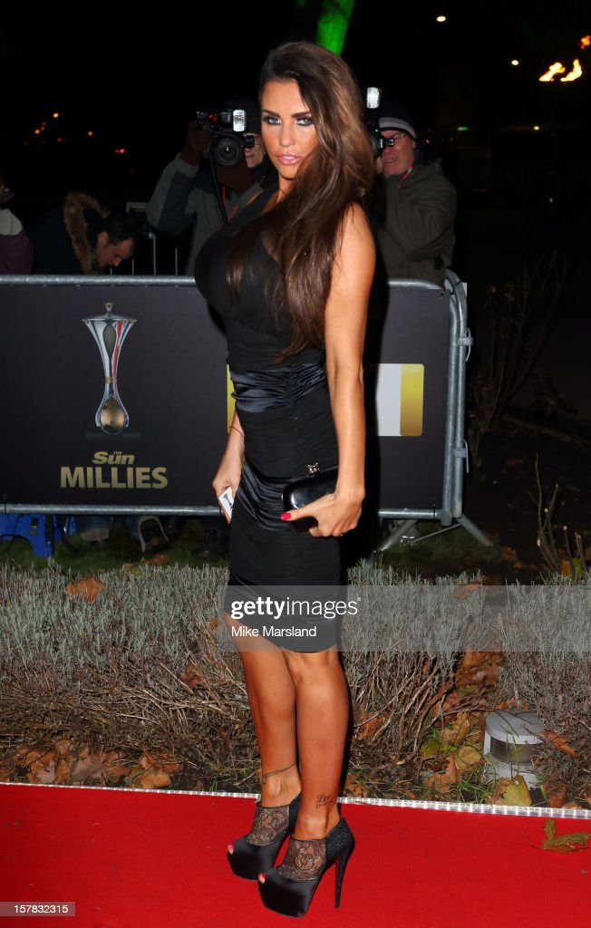 Katie Price attends the Sun Military Awards at Imperial War Museum on December 6, 2012 in London, England.