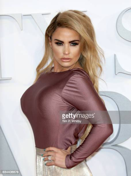 Katie Price attends the UK Premiere of 'Fifty Shades Darker' at the Odeon Leicester Square on February 9 2017 in London United Kingdom