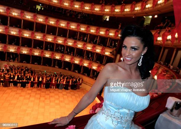 Katie Price attends the Vienna Opera Ball on February 11 2010 in Vienna Austria