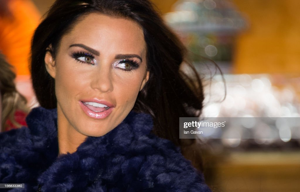 Katie Price attends the Winter Wonderland launch party at Hyde Park on November 22 2012 in London England
