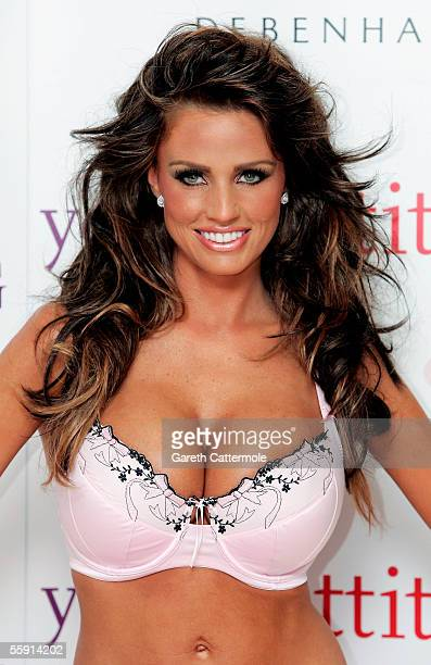 Katie Price better known as model Jordan models the new range of underwear by Young Attitude having been announced as the new face and body of the...