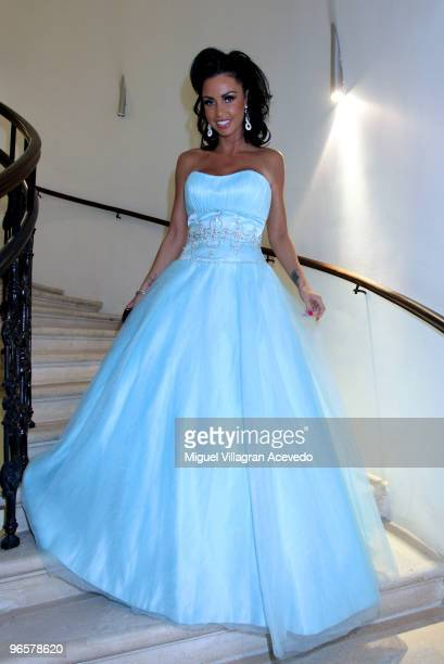 Katie Price departs to the Vienna Opera Ball on February 11 2010 in Vienna Austria