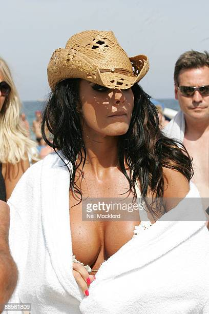 Katie Price during a photo shoot on June 17 2009 in Ibiza Spain