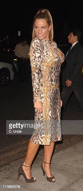 Katie Price during Gina Shoes 50th Birthday Party Outside at The Dorchester in London Great Britain